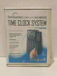 Amano Mtx 15 a300 Digital Lcd Time Clock With 17 Employee Badge Cards