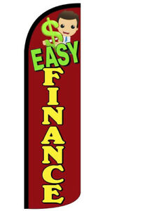 Easy Finance Windless Swooper Flag 3x11 5 Ft Feather Banner Sign Rq21