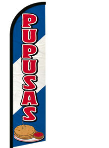 Pupusas Windless Swooper Feather Flag 2 5x11 5 Ft Tall Banner Sign Bf