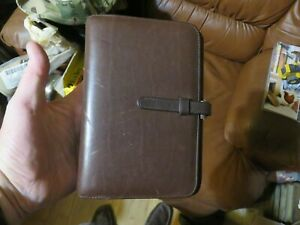Vintage Coach Day Timer Classic Leather Planner Notebook 7 5 x 5 6 Ring Brn