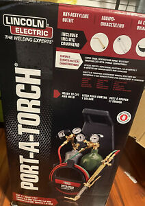 New Lincoln Electric Kh990 Port a torch Kit W oxygen Acetylene Tanks