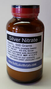 Silver Nitrate 500 Grams 99 95 Pure Freshly Made