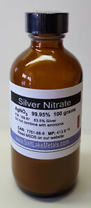 Silver Nitrate 100 Grams 99 95 Pure Freshly Made