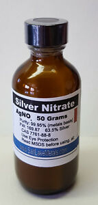 Silver Nitrate 50 Grams 99 95 Pure Freshly Made