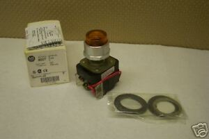 Allen Bradley 800t pt16a Amber Illuminated Pilot Light 120v New Condition In Box