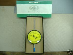 Federal R81 u Dial Indicator 3 1 2 Face Back Mount 025mm New Condition In Box