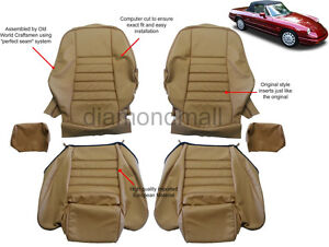 Alfa Romeo 1969 1994 Spider 1750 2000 Leather Seat Covers Replacement Upholstery