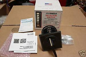 Omega Sw143g 6 b pg Thermocouple Selector Switch 3 Pole 6 Position New