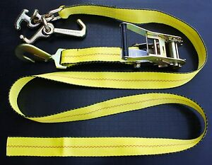 8 Rtj Cluster Hook Ratchet Straps Car Hauler Strap Tow Flatbed Trailer Tie Down