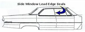 1974 1975 1976 Cadillac Ht Sedan Rear Side Window Seals
