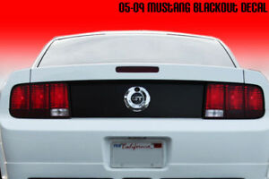 2005 2009 Ford Mustang Trunk Blackout Deck Lid Decal 06 07 08 09 Matte Black