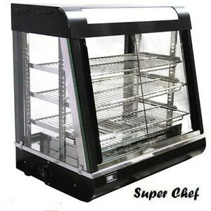 New Heated Food Display Warmer Cabinet Case 2 Ft