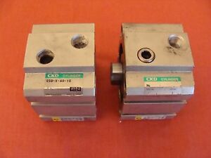Ckd Double Acting Air Cylinder Ssd x 40 10 Lot Of 2
