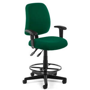 Green Fabric Computer Drafting Office Stool Chair