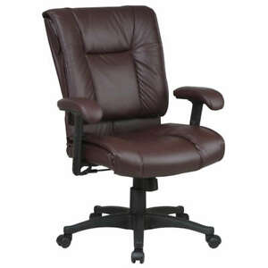 Deluxe Executive Manager Burgundy Leather Office Chair