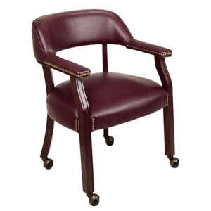 Guest Visitors Waiting Room Home Office Chair Mahogany