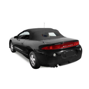 Mitsubishi Eclipse Convertible Top Heated Glass Window 95 99 Black Twill