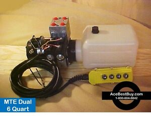 Mte 4 Way Hydraulic Pump Pwr Up down With Remote 12 Volt Mechtool