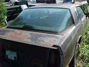 1987 Monte Carlo Rare Aero Coupe Aerocoupe Back Window