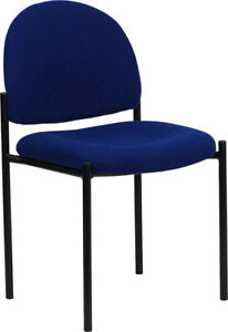 Blue Fabric Stack Office Guest Chair