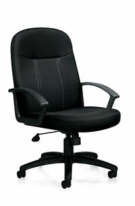 Lot Of 14 Black Fabric Conference Table Office Chairs