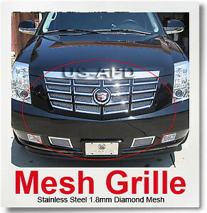 For 07 14 2014 2013 2012 Cadillac Escalade Mesh Grille Combo