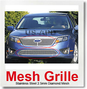 For 10 12 2011 Ford Fusion Mesh Grille Combo
