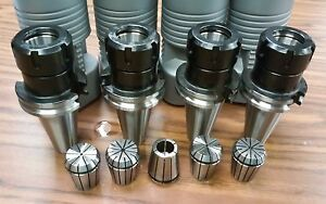 Cat40 er32 Collet Chuck 4 Chucks 5 Collets Tool Holder Set