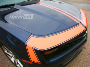 2010 2013 Chevy Camaro Hood Front Fascia Accent Blackout Stripes Decals Graphic