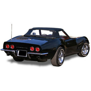 Chevrolet Corvette 1968 1975 Convertible Soft Top Black Pinpoint Vinyl