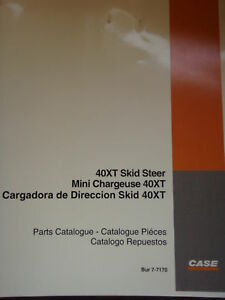Case 40xt Skid Steer Parts Catalog