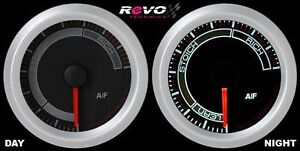 White Led Air Fuel A f Ratio Racing Gauge Meter 2 1 16