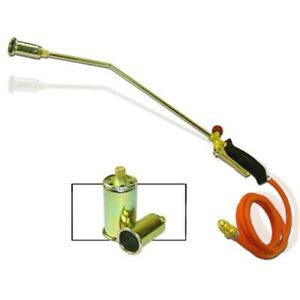 Propane Torch W 2 Extra Nozzle Ice Melter Weed Burner Camping Landscape Tool