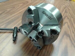 6 4 jaw Self centering Lathe Chuck W Top bottom Jaws 0 003 Tir new