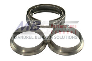 V band Exhaust Clamp And Flanges 2 304 Stainless Steel Turbo Universal Mbs