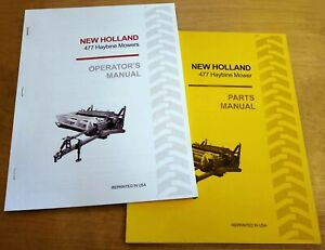 New Holland 477 Haybine Mower Conditioner Operator s And Parts Manual Catalog Nh