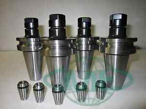 Bt40 er16 Collet Chuck W 2 75 Gage Length 4 Chucks 5 Collets tool Holder
