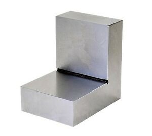Steel Right Angle Plate New Made Of Hardened Steel 4 X 4 X 3 X 1 1 8 Inch