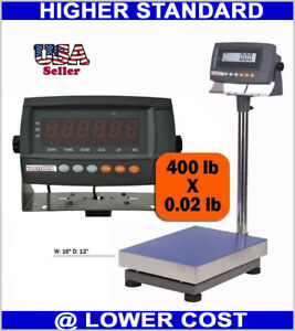 440 Lbs Weight Digital Industrial Floor Shipping Bench Scale Warehouse Gym Use