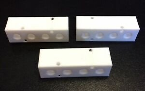 Lot Of 3 Cole parmer Ew 31521 07 Ptfe 4 port Manifold 1 4 Npt Inlet Outlet