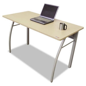 Rectangular Desk With Powder Coated Steel Frame And Laminate Top