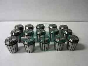 15pcs Er32 Collet Set common Sizes 1 4 3 8 1 2 5 8 3 4 overstocked new