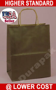 250 Gem 5 5x4 75x10 25 Tinted Paper Retail Shopping Bags Black Chocolate Colors