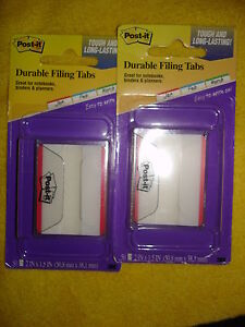 Post it Durable Filing Tabs 686f 50rd Lot Of 2