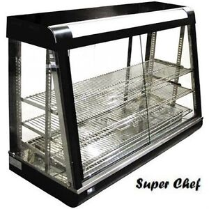 New Heated Food Display Warmer Cabinet Case 48 Glass On All Sides