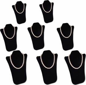 8pcs Set 14 h Padded Necklace Pendant Chain Black Jewelry Display Easel Pj13pb8