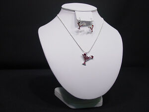 9 hx8 w White Leather Earring Bust Necklace Chain Jewelry Display Stand Ja36w1