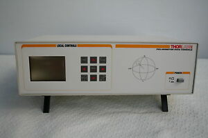 Thorlabs Pa530 With Polarimeter Data Console Fiber Fc