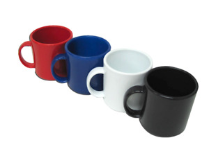 60 Plastic Coffee Mugs New Blank Wholesale Lot Catering Supply Bulk Set 11oz
