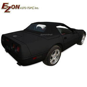 Chevy Corvette C4 1986 1996 Convertible Soft Top With Glass Window Black Vinyl